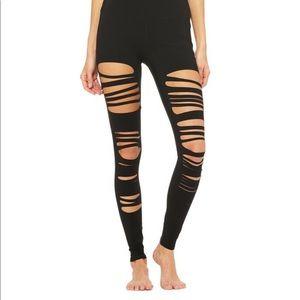 Alo Yoga Extreme Ripped Warrior Leggings - Size M